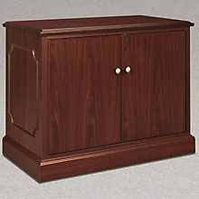 Traditional Mahogany Laminate Storage Cabinet, HON-94291