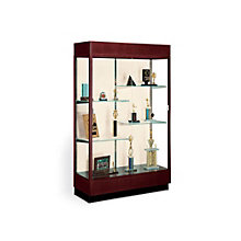 Classic Display Case with Fabric Backing and Cornice Light, OFG-DC0006