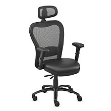 24/7 Big and Tall Mesh Headrest Chair with Polyurethane and Memory Foam, 8801905