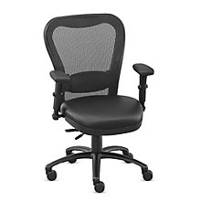 24/7 Big and Tall Mesh Chair with Polyurethane Seat and Memory Foam, 8801901