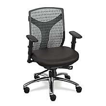 Nice Plastic Back Conference Chair With Fabric Seat, 8802392