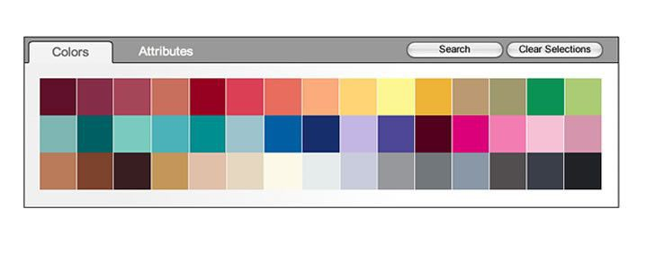 click to search fabrics by color