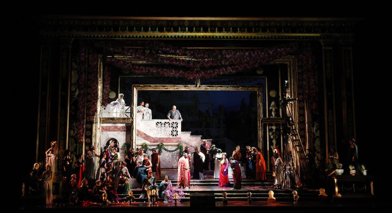 LA Opera Printed Garland Scrim