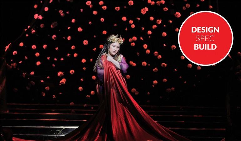 LA Opera 3-D Backdrop
