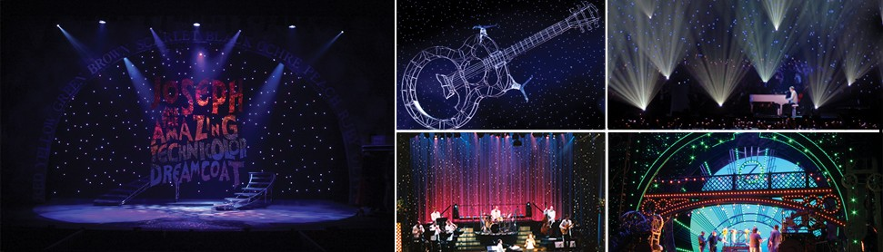 LED Star Drops & Chameleon LED Curtain Rentals from Rose Brand