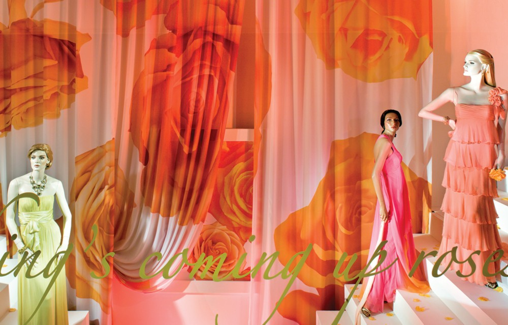 Direct Dyed Poly Silk,<br>Visual Merchandising