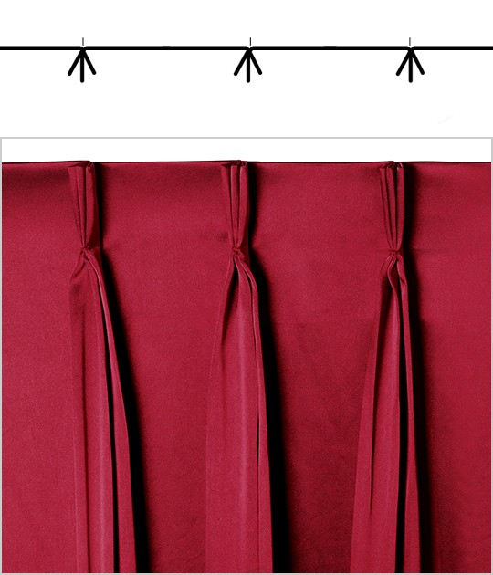 Used Theatrical Drapes: Curtain Fullness