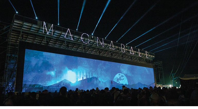 Case Study: Producing & Rigging Outdoor Projection Screens