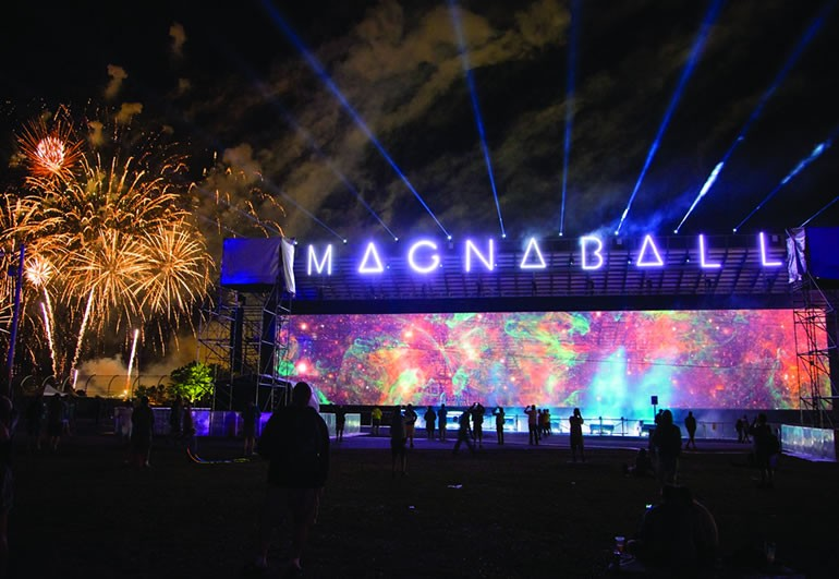magnaball projection screen installation