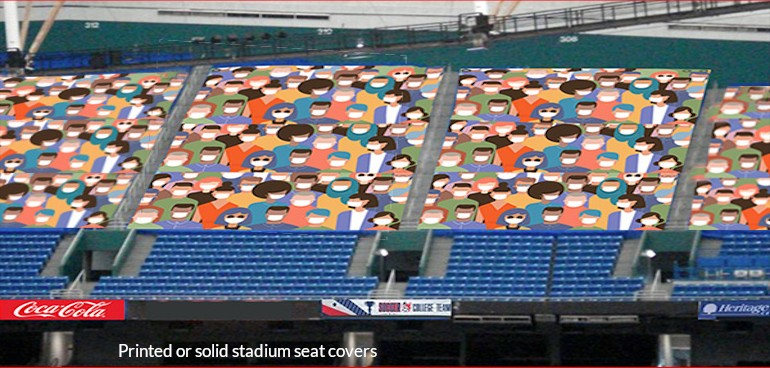 printed stadium seat covers