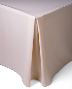 pleated corner tablecloth
