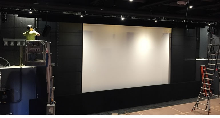 Work In Progress Projection Screen with Masking