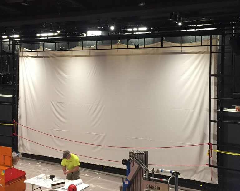 Unfinished Projection Screen