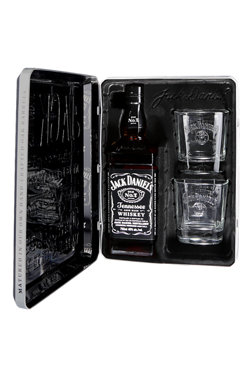 Jack Daniel's Travelling Tin with 2 Glasses