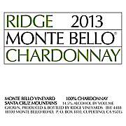 Ridge Chardonnay Monte Bello 2013