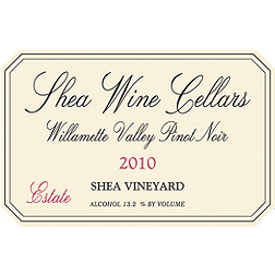 Shea Wine Cellars Estate Willamette Valley Pinot Noir 2010, $55.00