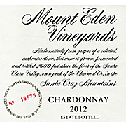 Mount Eden Estate Chardonnay 2012