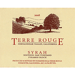 Terre Rouge Sentinel Oak Vineyard Pyramid Block 2009, $60.00