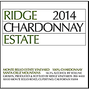 Ridge Estate Chardonnay 2014