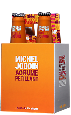 Michel Jodoin Agrume Pétillant Cocktail au Cidre 4x330ml