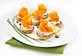 Blinis with smoked salmon