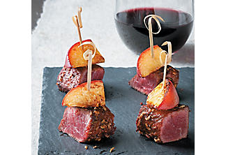 Beef-and-peach appetizers with paprika