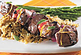 Marinated lamb brochettes