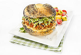 Asian spicy pork burger