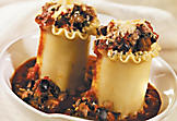 Standing cannelloni with beef and olives