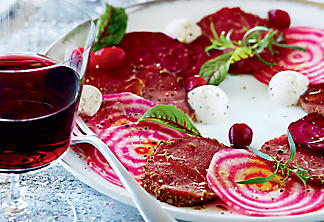 Beef Carpaccio and Beets