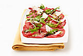Beef carpaccio with arugula and Parmesan