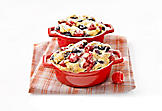 Mini mixed-berry clafoutis
