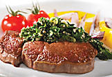 Rib-eye steak with chimichurri