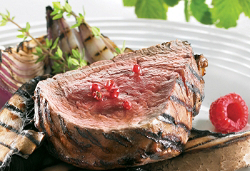 Grilled raspberry beef tenderloin
