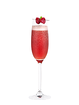 Fiche cocktail framboise royale for Cocktail mousseux