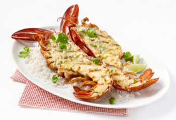 Recipe asian style grilled lobster - Recette homard grille ...