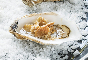 Broiled Oysters with almonds
