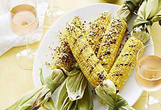 Barbecued Coconut-Curry Corn on the Cob