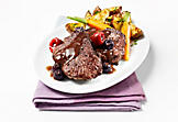 Bison medallions with mixed berries