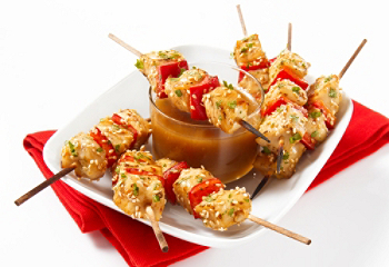 Honey and ginger chicken mini-skewers