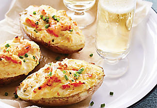 Crab-stuffed potato skins