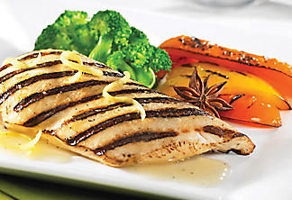 Grilled chicken with star anise