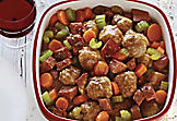 Slow-Cooker Meatball-and-Smoked-Meat Stew