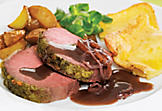 Roast beef with herbes salées and Yorkshire pudding