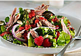 Duck confit salad with raspberry vinaigrette