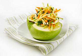 Cole slaw with green apple