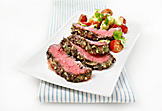 Mediterranean marinated beef flank steak