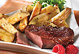 Steak and spicy roasted potatoes