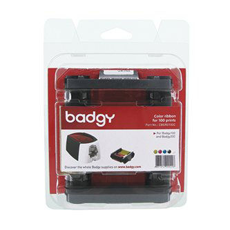 Badgy YMCKO Color Ribbon- 100/roll
