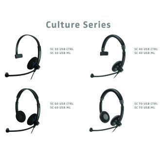 SC70 USB MS, Dual-sided wideband headset